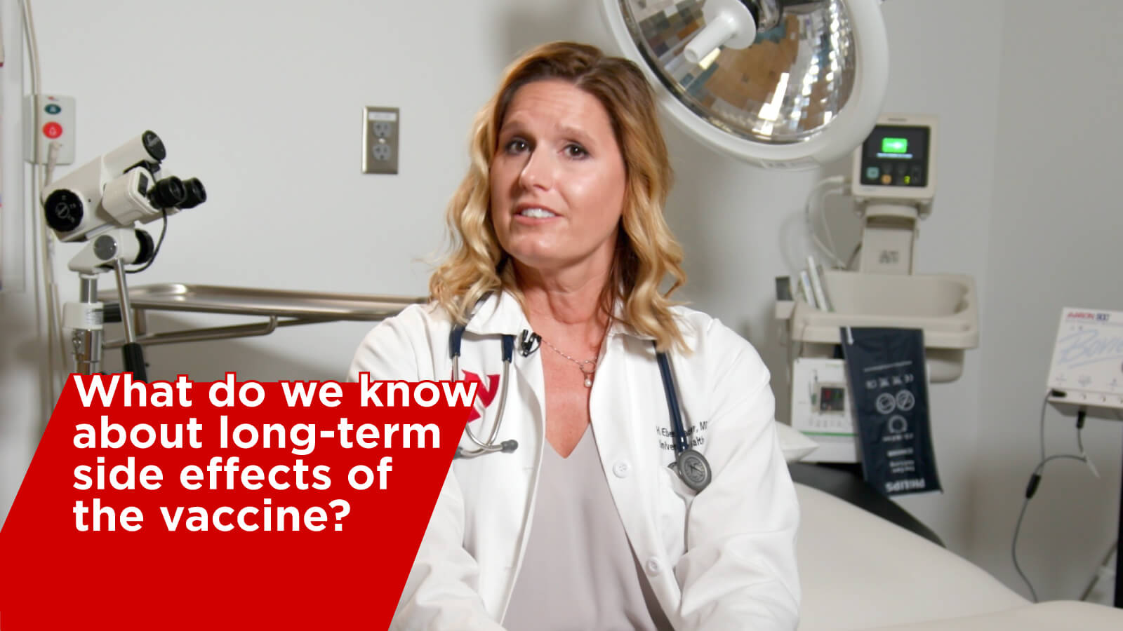 Video thumbnail for vaccination explanation video on what we know about long term side effects
